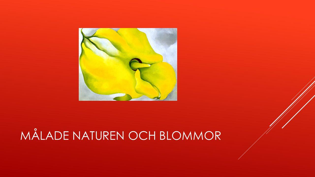 Målade naturen och blommor
