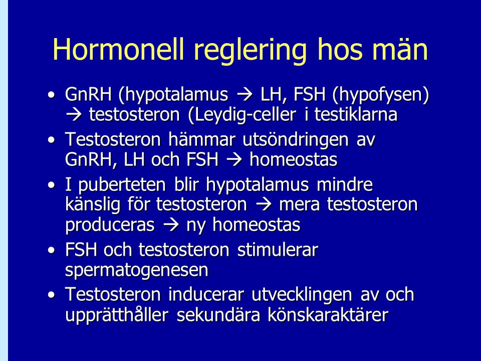 Hormonell reglering hos män
