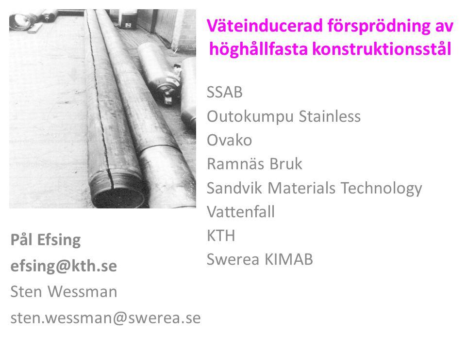 Väteinducerad försprödning av höghållfasta konstruktionsstål