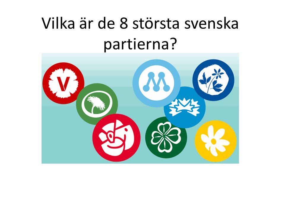 Vilka är de 8 största svenska partierna