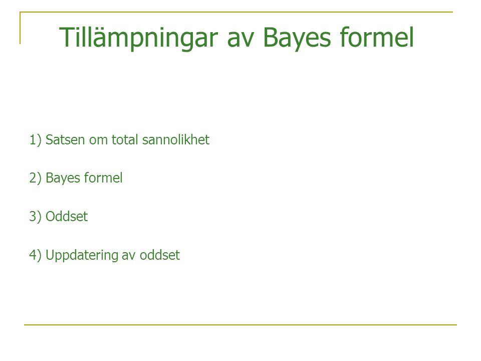 Tillämpningar av Bayes formel