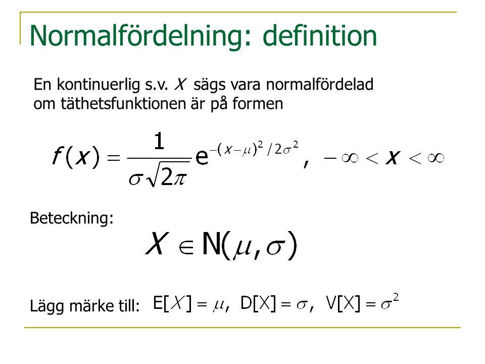 Normalfördelning: definition
