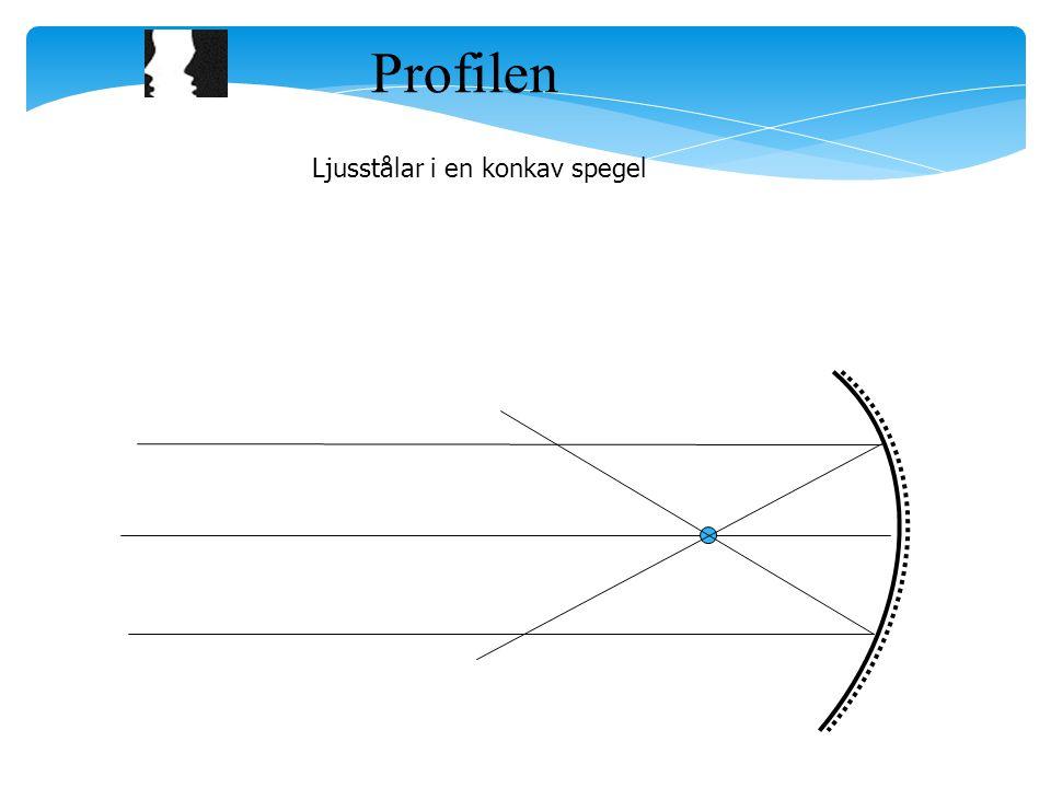 Profilen Ljusstålar i en konkav spegel