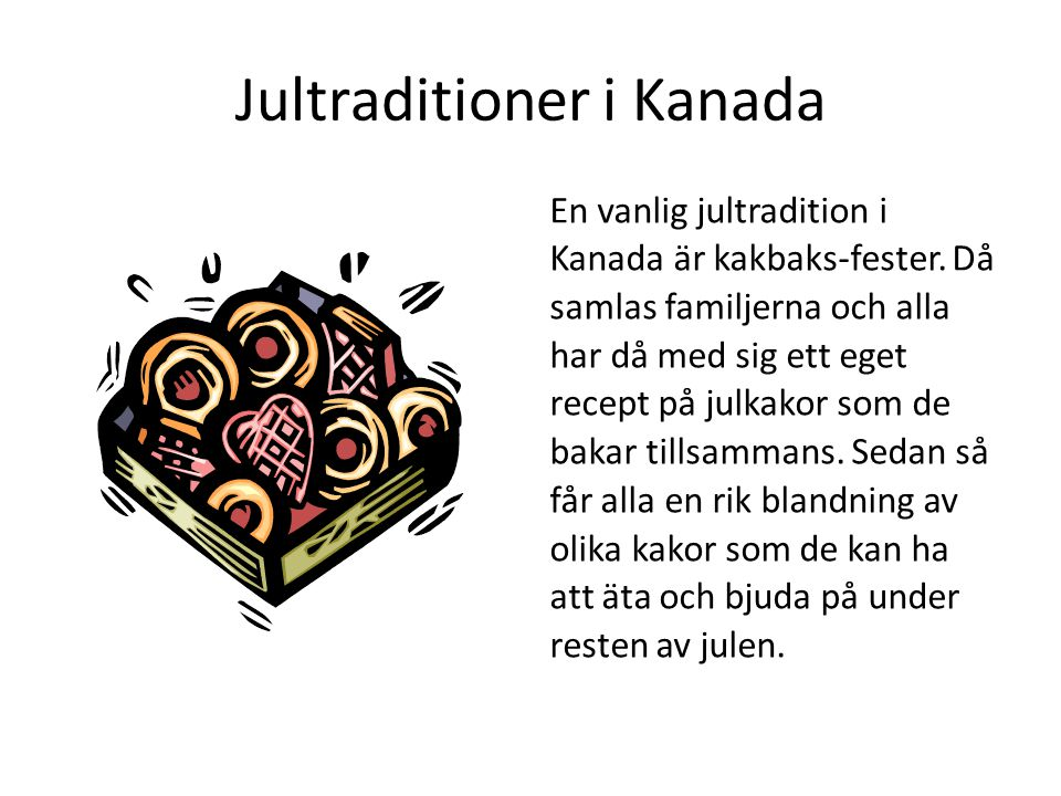 Jultraditioner i Kanada