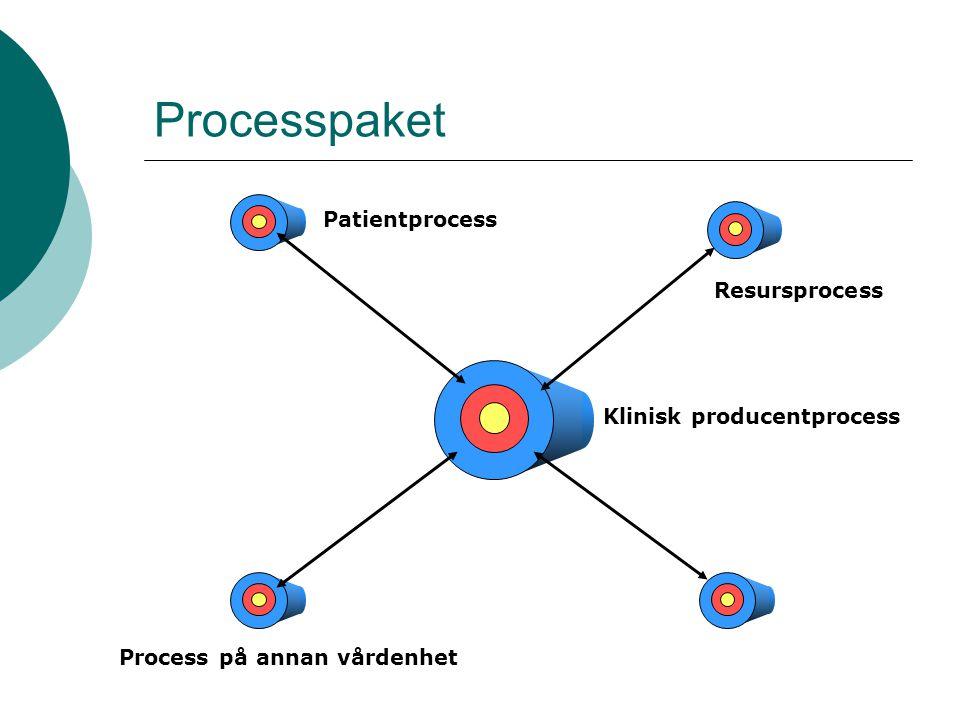 Processpaket Patientprocess Resursprocess Klinisk producentprocess