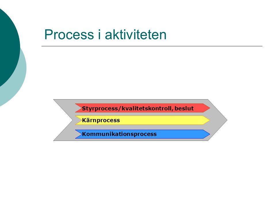 Process i aktiviteten Styrprocess/kvalitetskontroll, beslut
