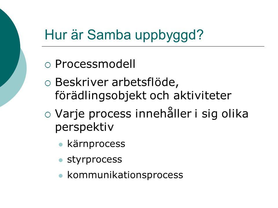 Hur är Samba uppbyggd Processmodell