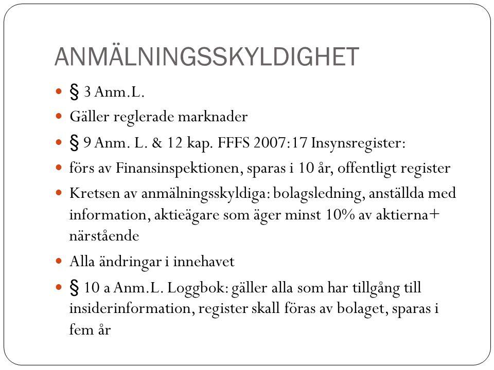 ANMÄLNINGSSKYLDIGHET