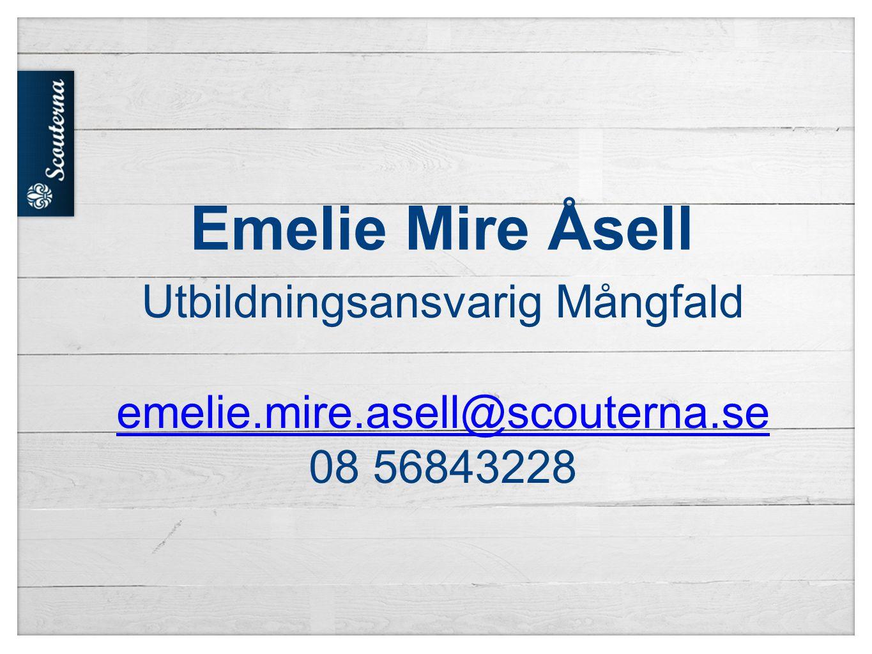 Utbildningsansvarig Mångfald emelie. mire. asell@scouterna
