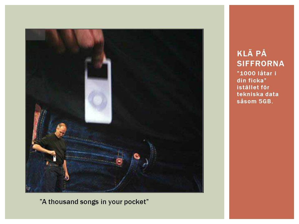 Klä på siffrorna A thousand songs in your pocket