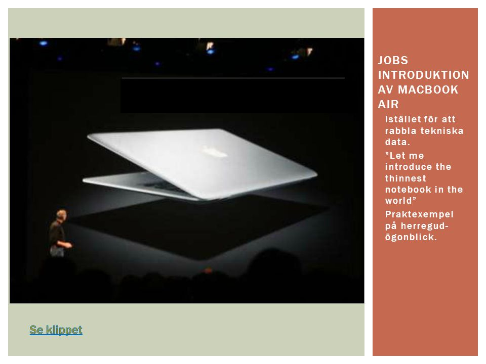 jobs introduktion av macbook air