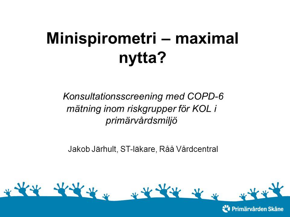 Minispirometri – maximal nytta