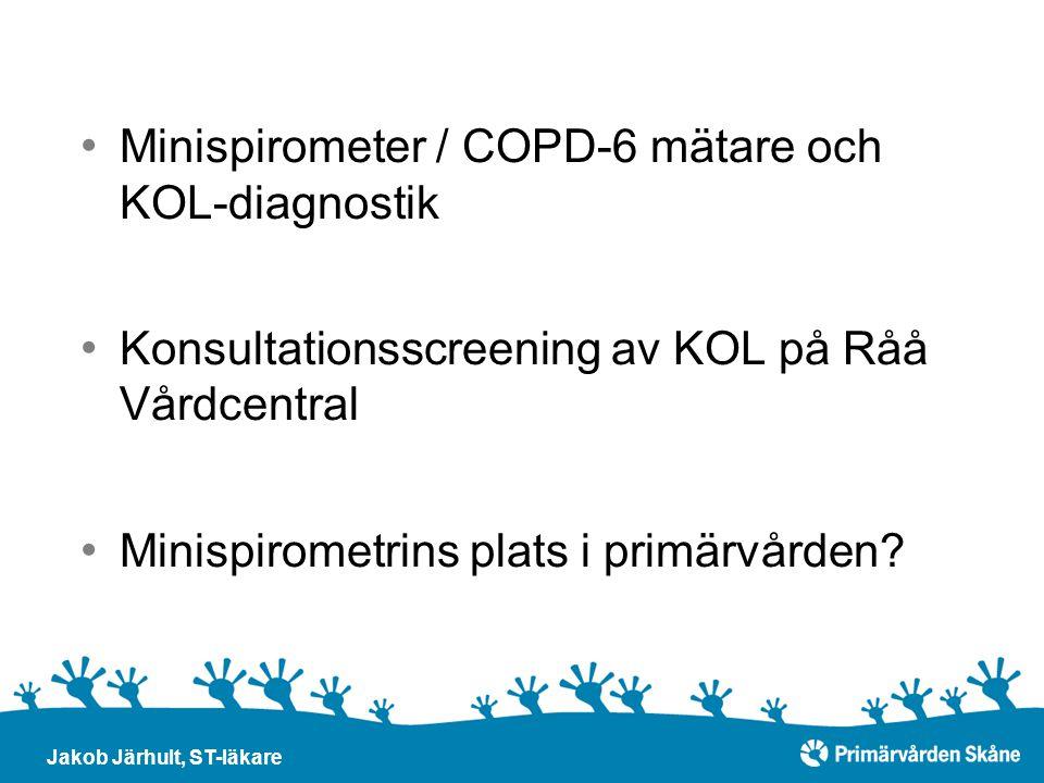 Minispirometer / COPD-6 mätare och KOL-diagnostik