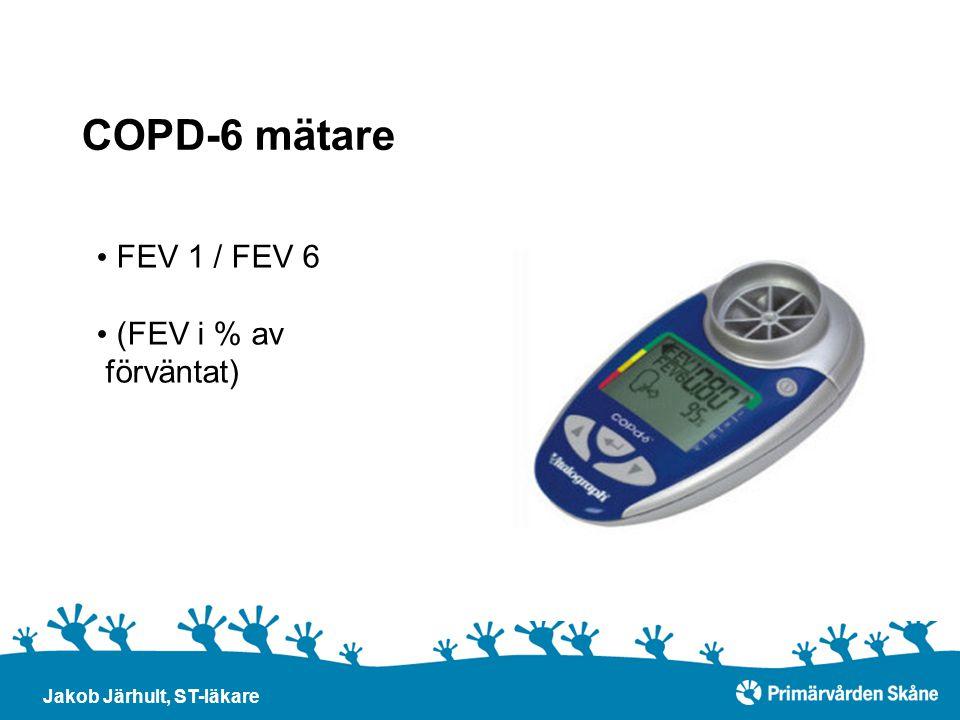 COPD-6 mätare FEV 1 / FEV 6 (FEV i % av förväntat)