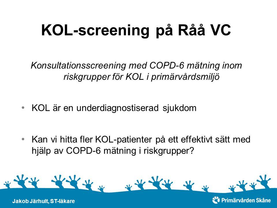 KOL-screening på Råå VC