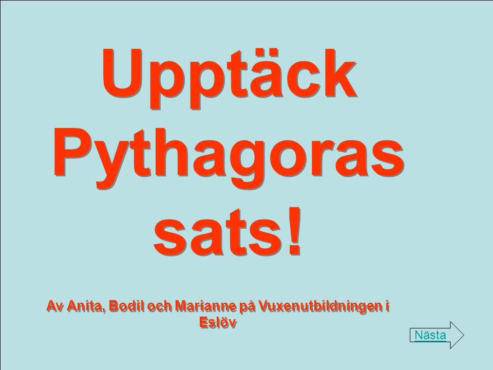 Upptäck Pythagoras sats!