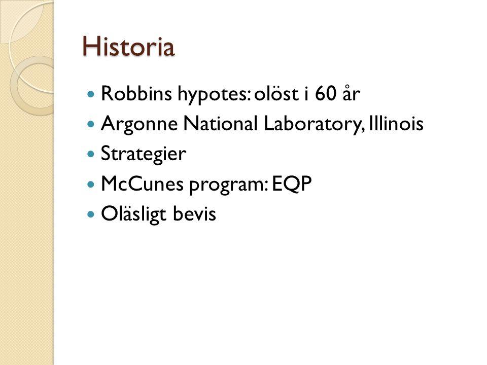 Historia Robbins hypotes: olöst i 60 år