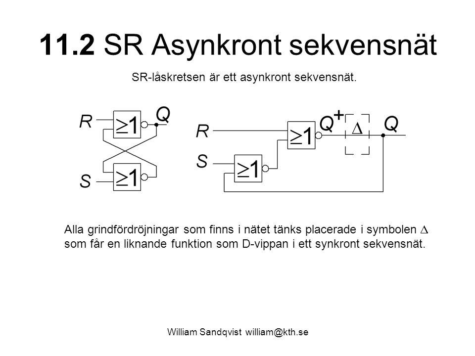 11.2 SR Asynkront sekvensnät