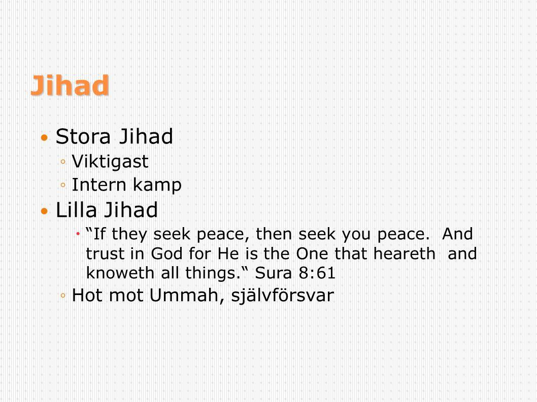 Jihad Stora Jihad Lilla Jihad Viktigast Intern kamp