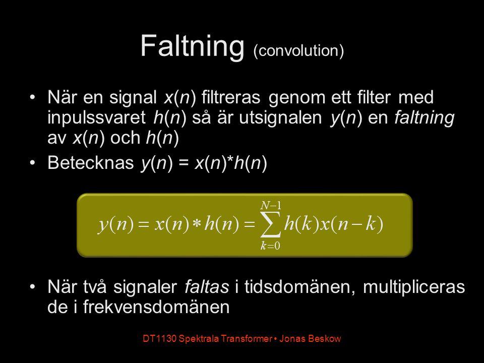 Faltning (convolution)