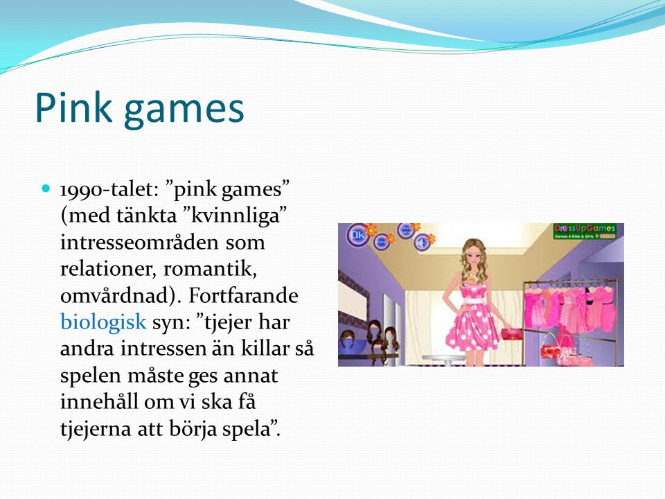 Pink games