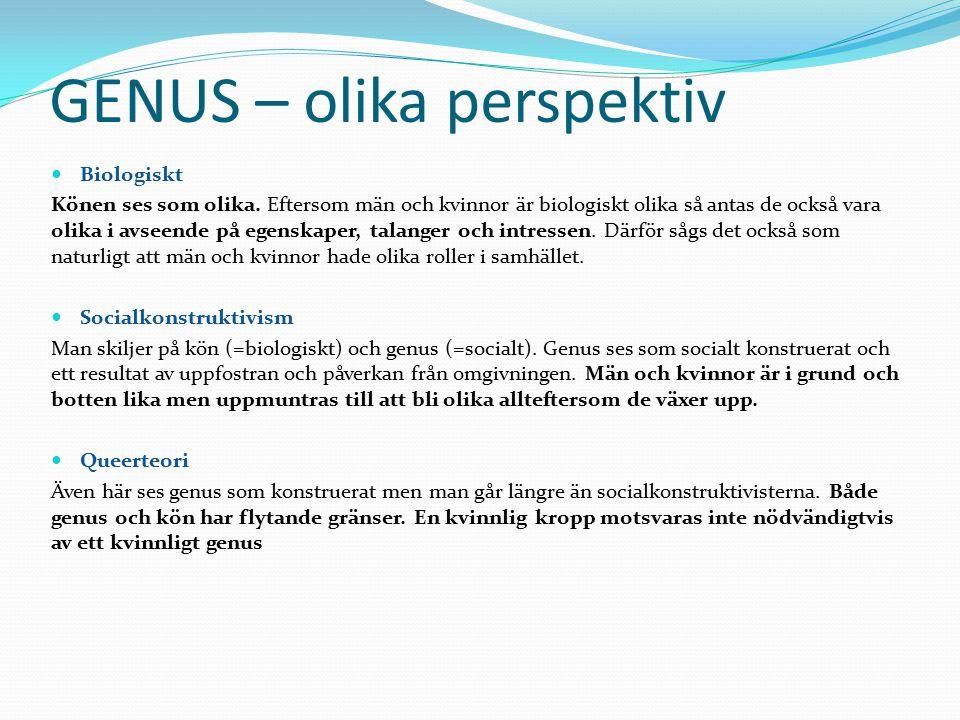 GENUS – olika perspektiv