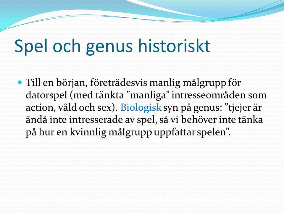 Spel och genus historiskt
