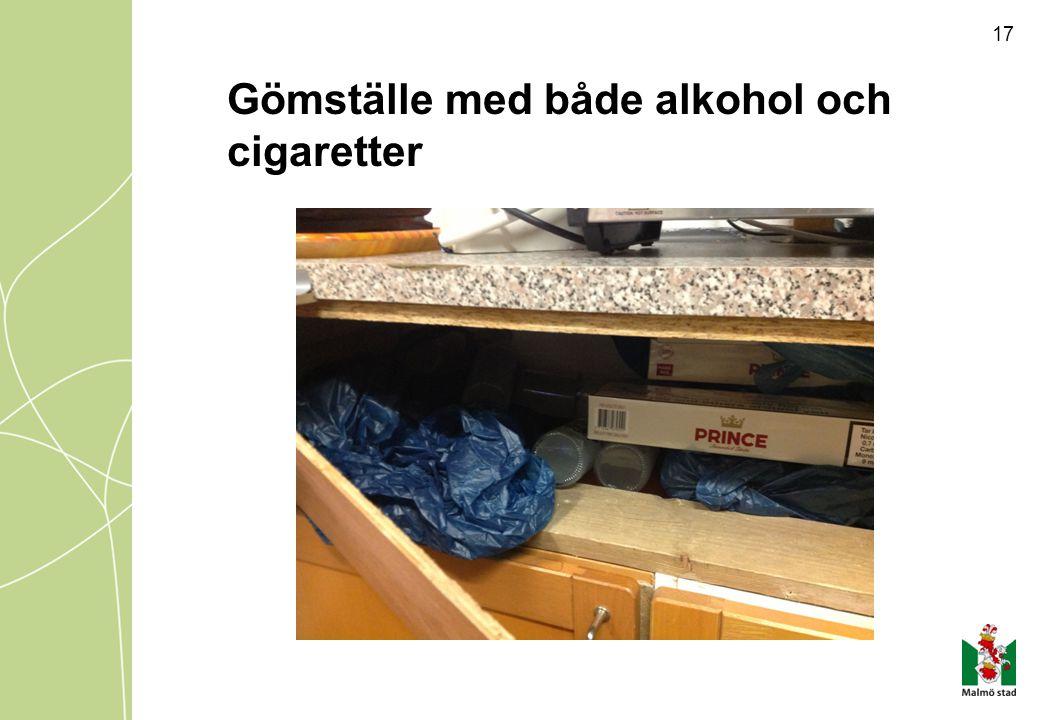 Gömställe med både alkohol och cigaretter
