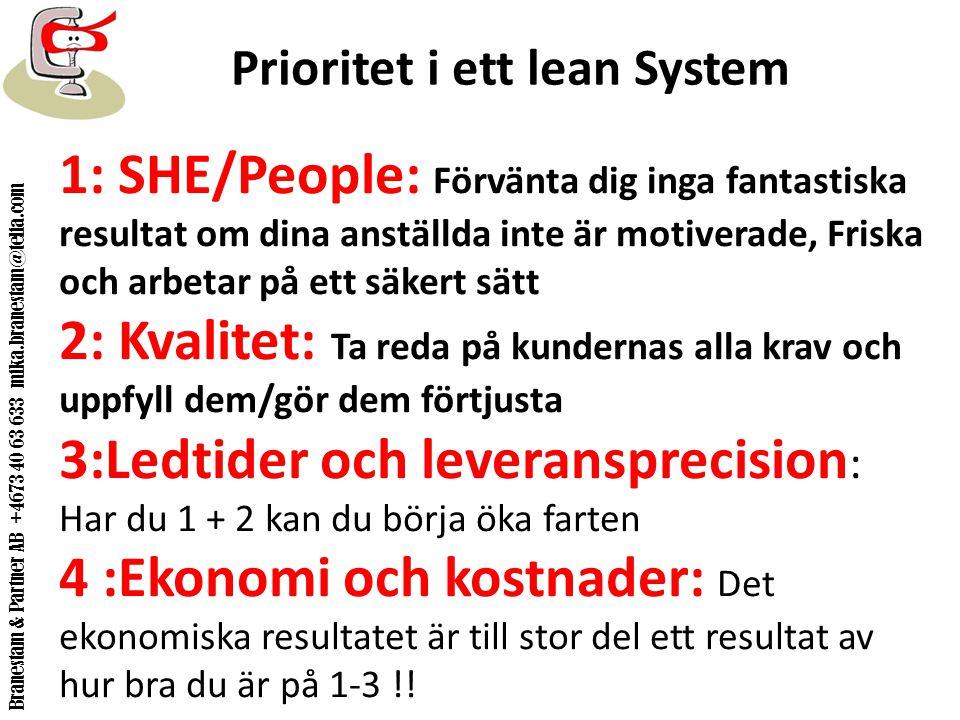 Prioritet i ett lean System