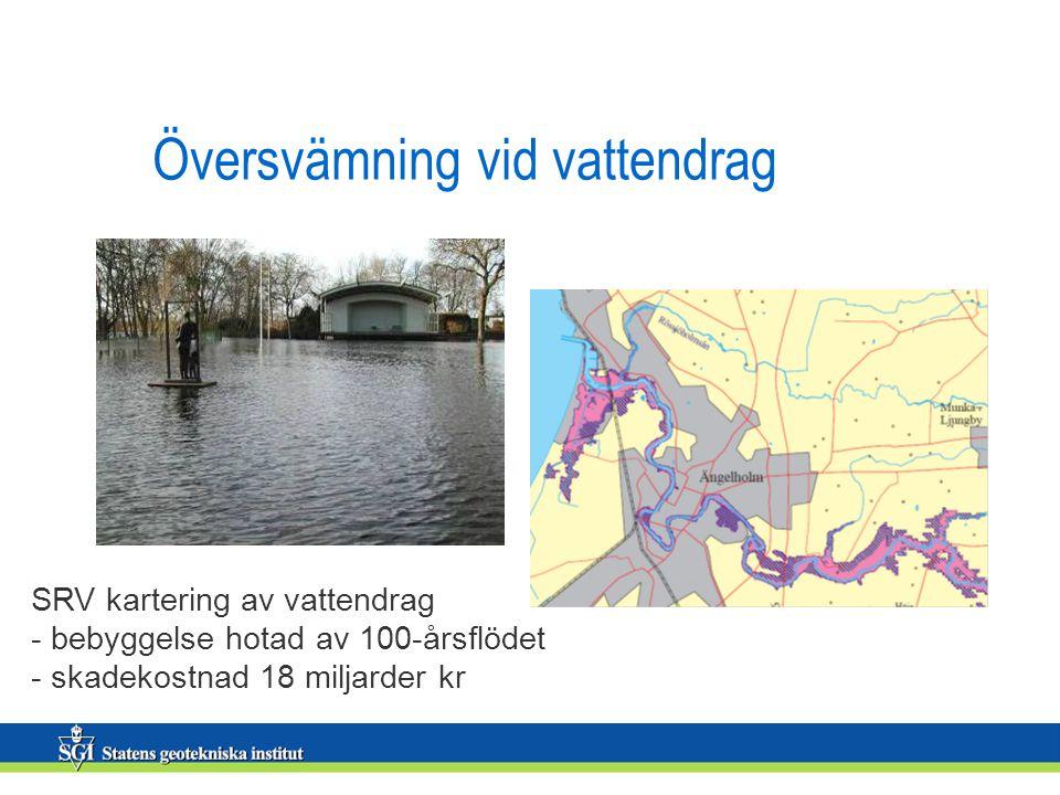 Översvämning vid vattendrag