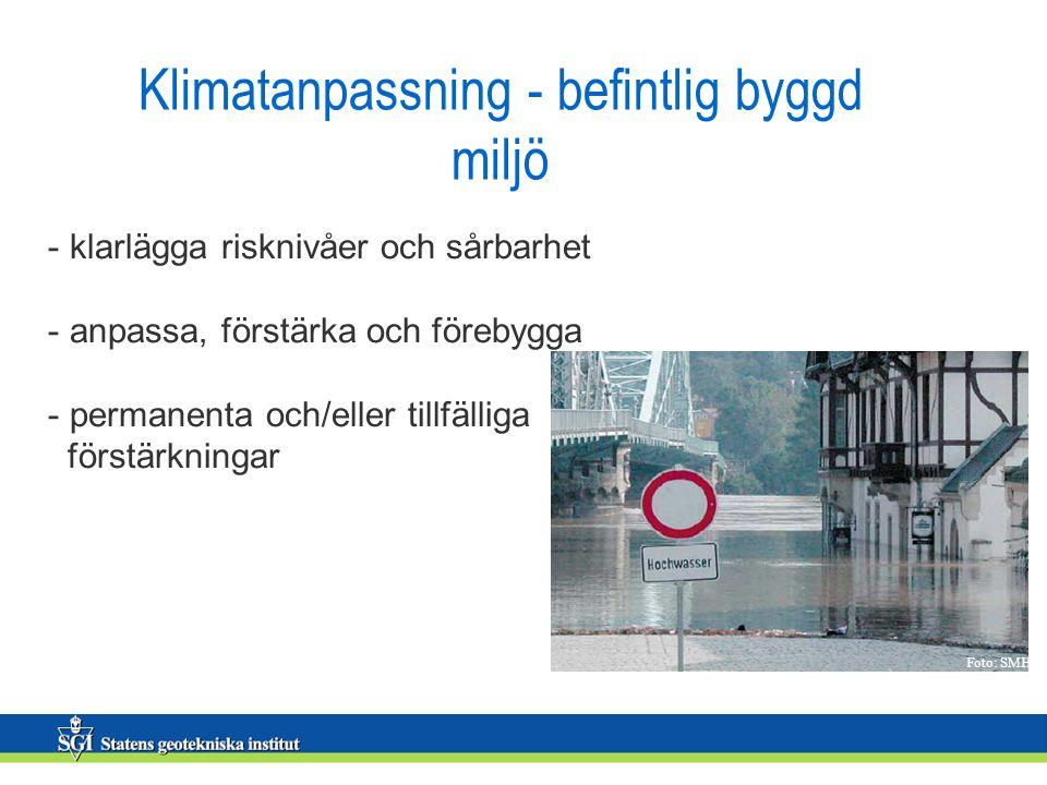 Klimatanpassning - befintlig byggd miljö