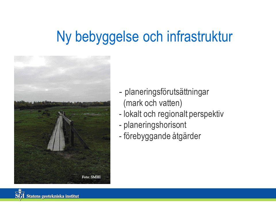 Ny bebyggelse och infrastruktur