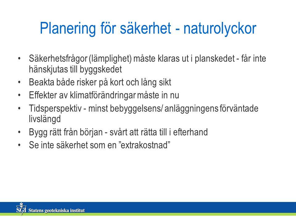 Planering för säkerhet - naturolyckor