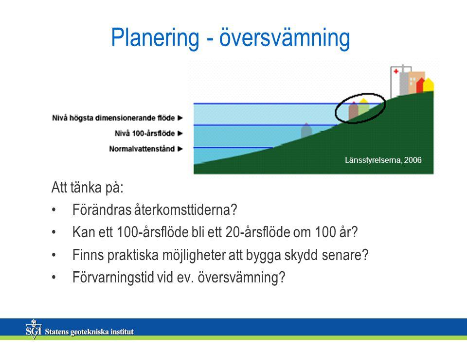 Planering - översvämning