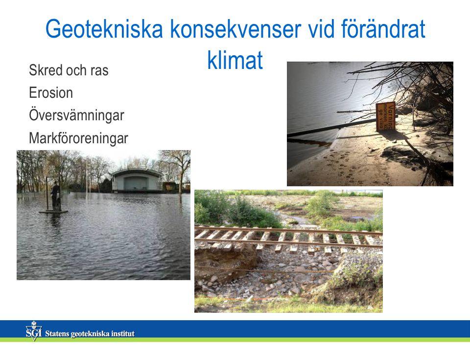 Geotekniska konsekvenser vid förändrat klimat