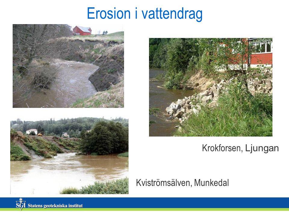Erosion i vattendrag Krokforsen, Ljungan Kviströmsälven, Munkedal