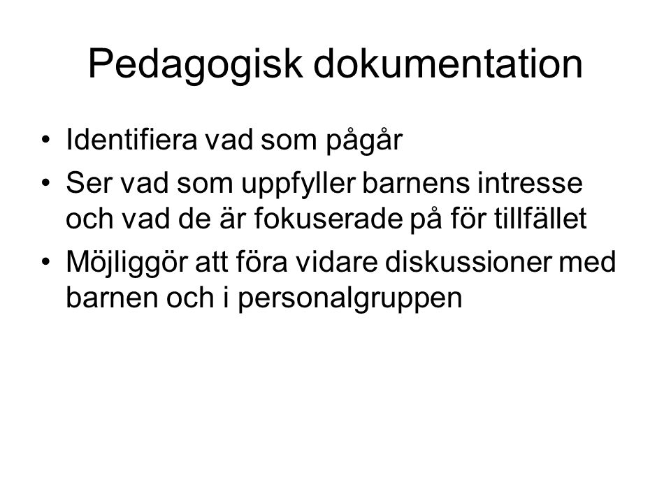 Pedagogisk dokumentation