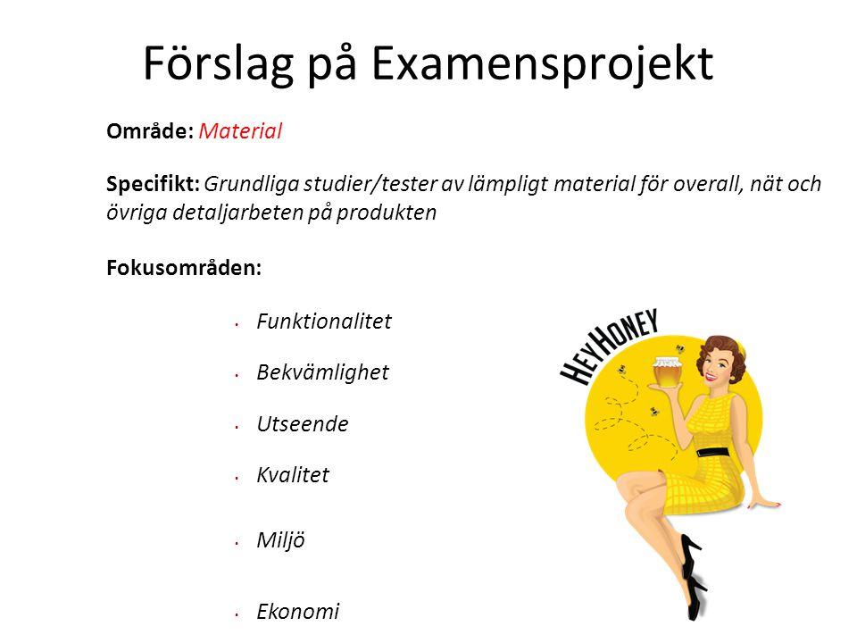 Förslag på Examensprojekt