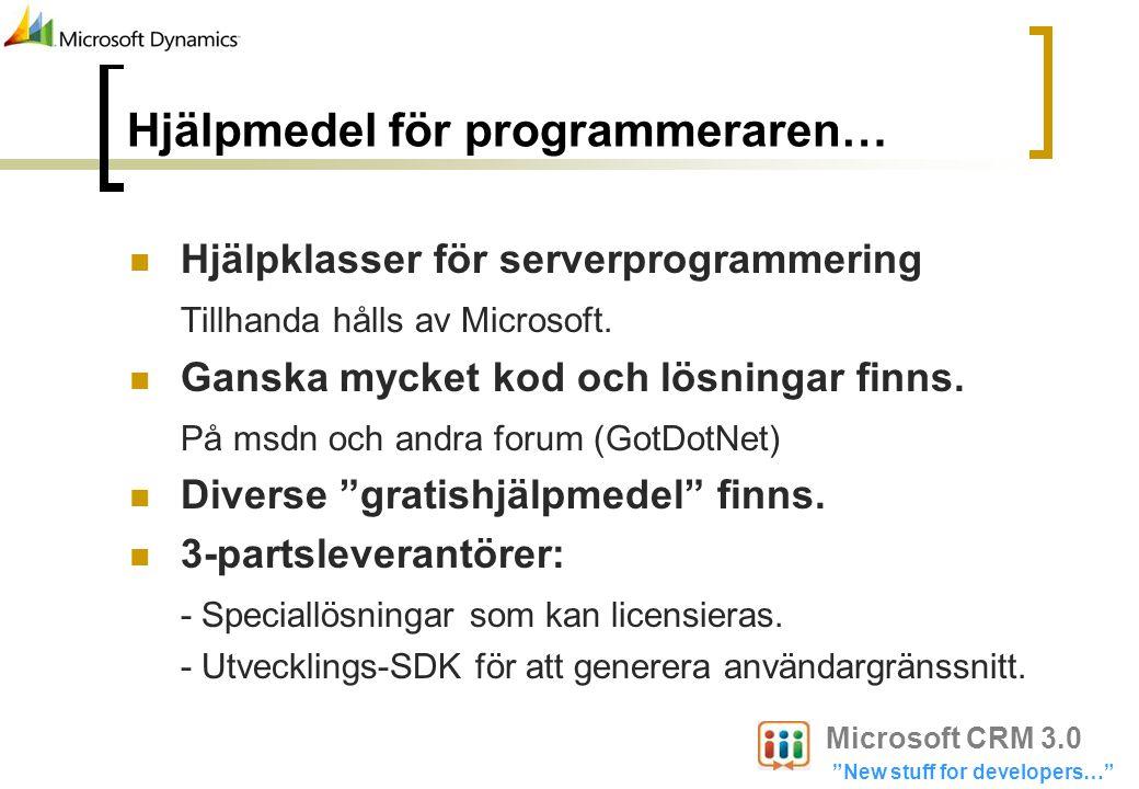 Hjälpmedel för programmeraren…