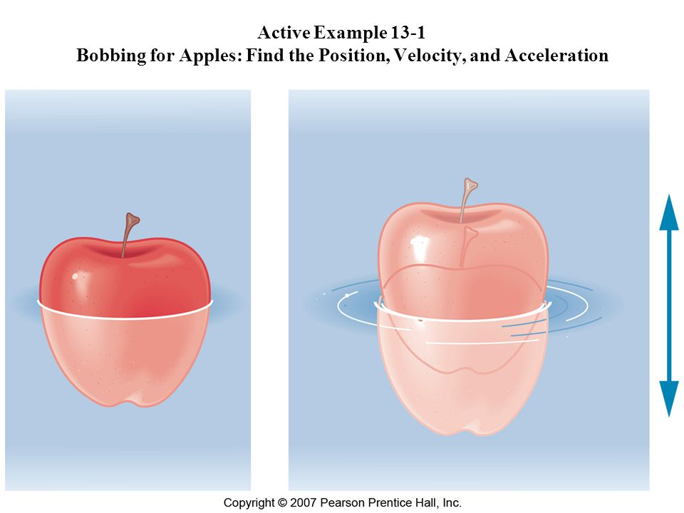 Active Example 13-1 Bobbing for Apples: Find the Position, Velocity, and Acceleration