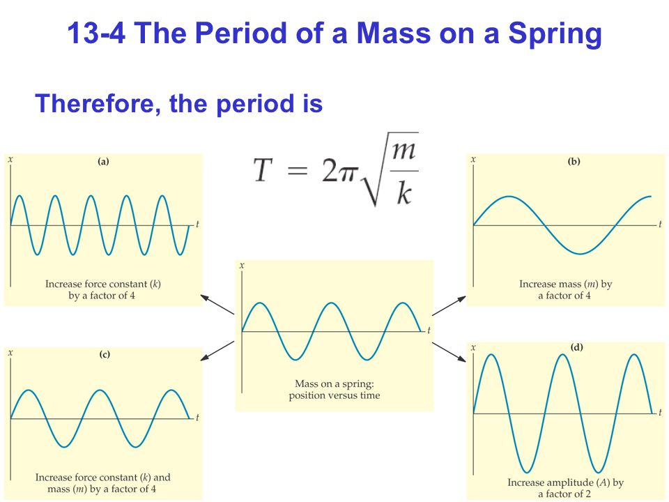 13-4 The Period of a Mass on a Spring