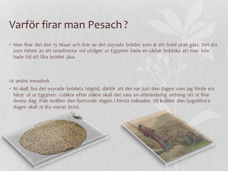 Varför firar man Pesach