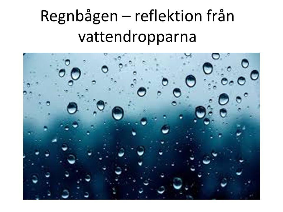 Regnbågen – reflektion från vattendropparna