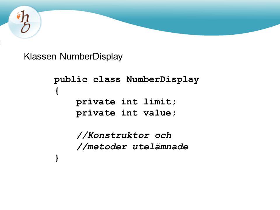 Klassen NumberDisplay