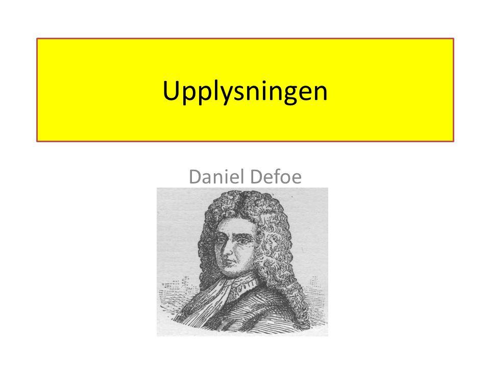 Upplysningen Daniel Defoe