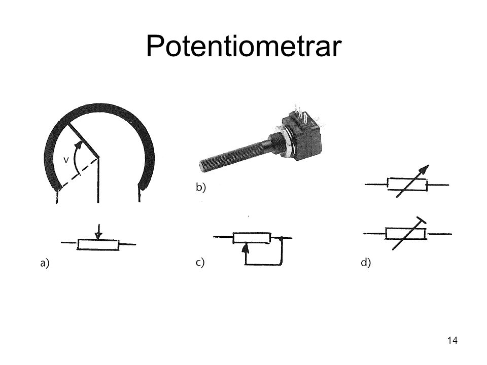 Potentiometrar