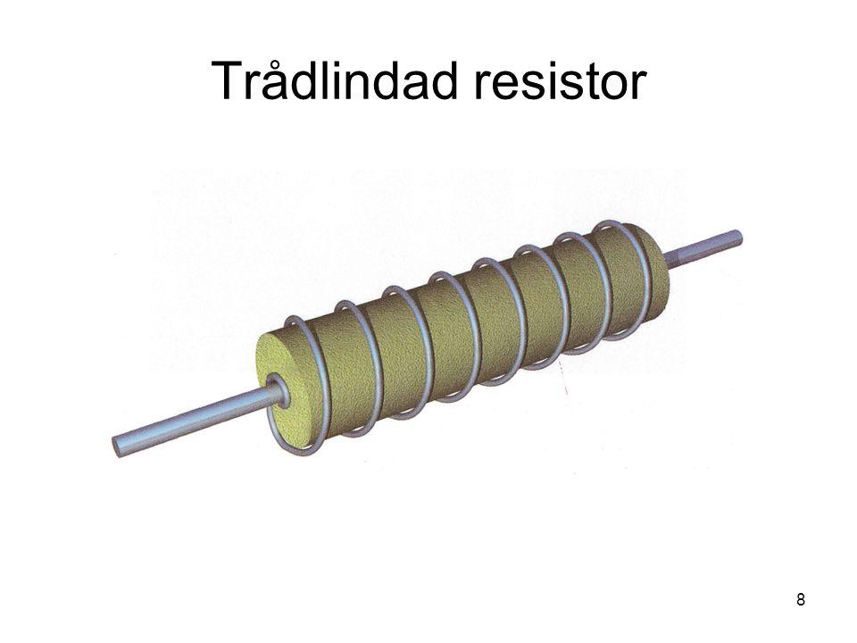 Trådlindad resistor