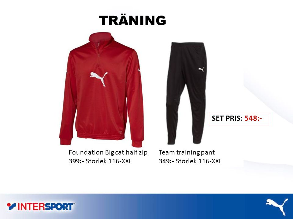 TRÄNING SET PRIS: 548:- Foundation Big cat half zip