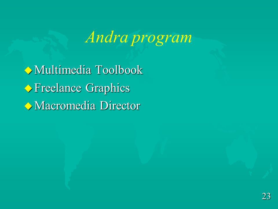 Andra program Multimedia Toolbook Freelance Graphics