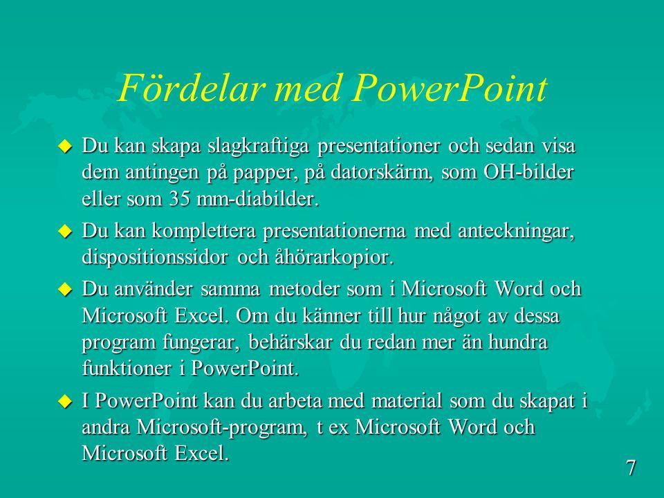 Fördelar med PowerPoint